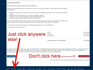 final step to hold a reservation on delta for an award free