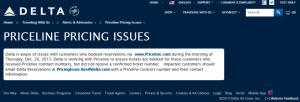 priceline issue delta mistake fare