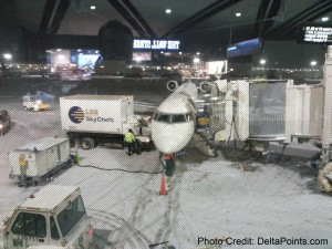 snowy CRJ900 Delta Points mileage run to hawaii (3)