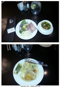 Sheration IAH lunch Delta Points blog