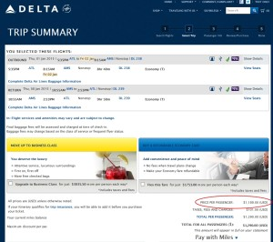 how many miles buying on delta-com