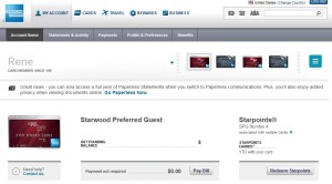 rene has two spg cards and two delta amex reserve cards