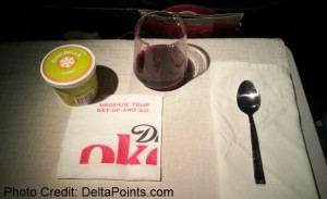 desert 1st class delta transcon delat points blog