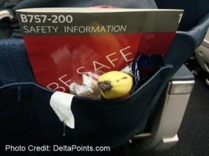 junk left behind on delta transcon flight 1st class
