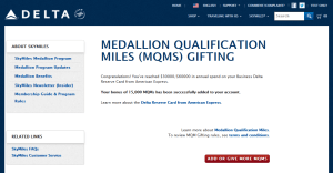step two to redeem your mqms from your delta amex card