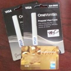 one vanilla visa
