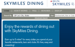 5x points for skymiles dining