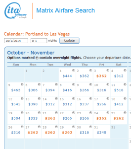 oct portland to las