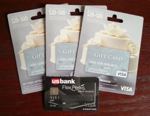 visa debit gift cards and flexperks card