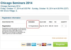 2014 chicago seminars down uder 75 tickets to go