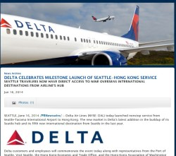 SEA is a hub for delta