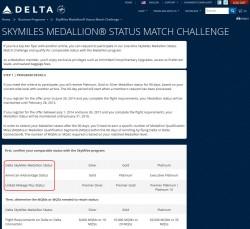 delta skymiles medallion status match challenge