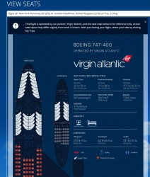 va seatmap of 747 on delta-com
