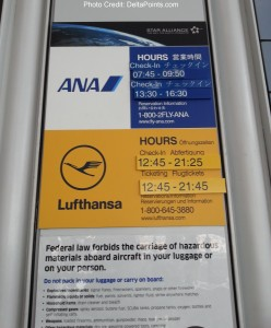 check-in hours for the lufthansa counter at ORD airport delta points blog