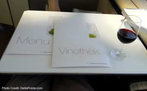 menus lufthansa 747-8 first class service delta points blog