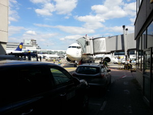 porche ride to airplane FRA airport delta points blog 3