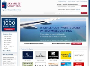 skymiles shopping page