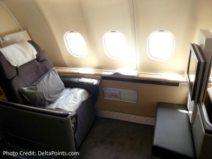 Lufthansa 1st class munich to Toronto A330 DeltaPoints blog review (4)