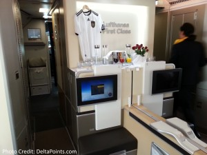 Lufthansa 1st class munich to Toronto A330 DeltaPoints blog review (5)