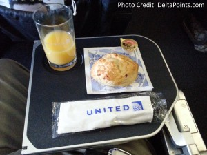breakfast united business class delta points blog