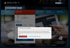 delta moving from pin to password