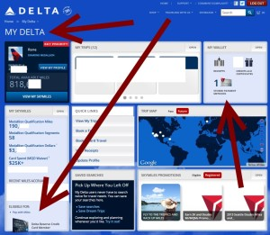 make sure your delta AMEX card does show up at your my delta home page delta points blog
