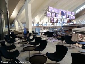 Patio Korean Air lounge LAX Delta Points blog