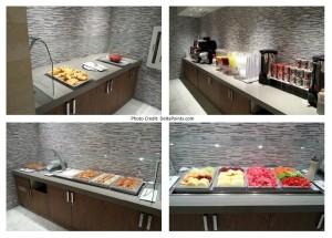 breakfast food choices Korean Air lounge LAX Delta Points blog