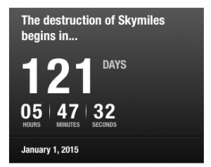 countdown to the destruction of skymiles