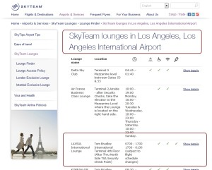 per skyteam-com web site LAXSUL lounge is a skyteam lounge really not so much delta points blog