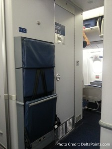very close to bathroom Exit row seats delta A330 atl to ams delta points blog