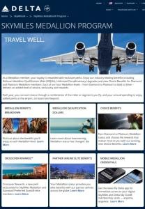 delta medallion program page from delta-com