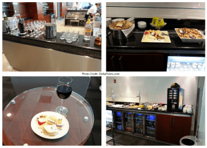 food choices in the MIA VIP lounge delta points blog