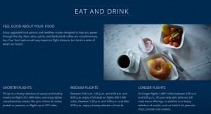 updated when you get food in 1st class delta air lines