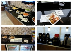dinner time snack choices sheraton club MIA airport delta points blog