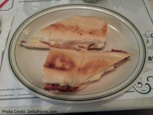 my first cuban sandwich with reader Noah in mia delta points blog