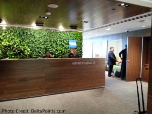 Centurion Lounge LGA LaGuardia Airport american express delta points blog entrance