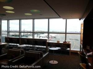 Centurion Lounge LGA LaGuardia Airport american express delta points blog first room off checkin (1)