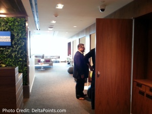 Centurion Lounge LGA LaGuardia Airport american express delta points blog view from checkin (2)