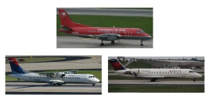 3 old delta connection jets saab atr crj200