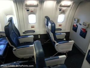 Delta 767-300 domestic coach exit row 26 seat 4 Delta points blog