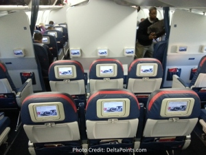 Delta 767-300 domestic comfort plus seat 4 Delta points blog