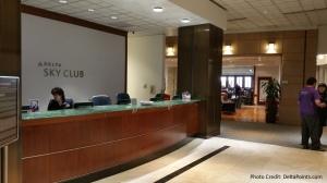 Entrance help desk Salt Lake SLC  Delta Skyclub Delta Points blog