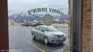 getting jimmy johns lunch on the way to alta utah delta points blog