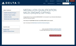 mqms added to my skymiles account
