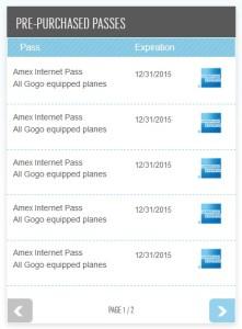 my gogo amex 10 free passes