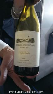 Delta domestic 1st  Robert Mondavi Pinot Noir Carneros Napa Valley delta points blog