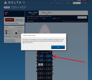 delta-com seat map with error
