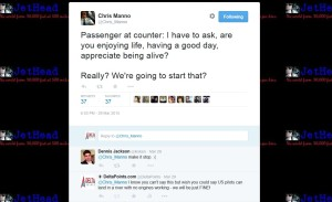 tweet from chris manno aa pilot