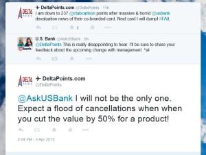 tweets to usbank